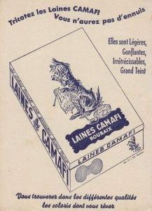 Publicité pour les laines CAMAFI