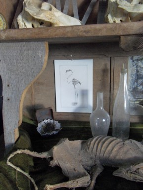 Ibis [In situ] - encre sur papier, A5, 2015