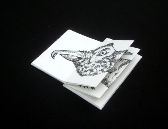 Leporello#1 - encre sur papier, 6x 40cm, 2011