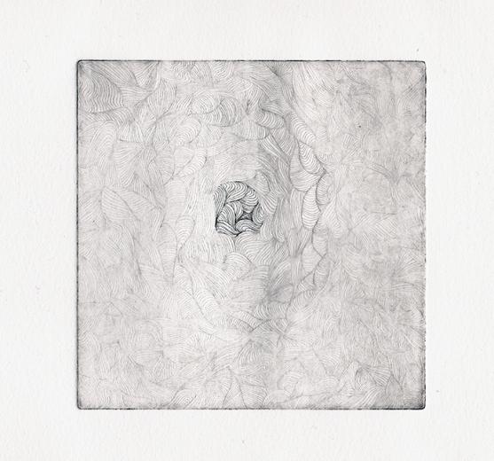 Plaque#3, fond, tirage01 - eau forte sur zinc, 12,5x12,5cm, 2015