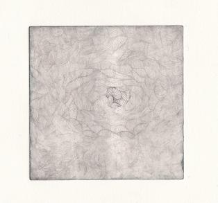 Plaque#3, fond, tirage02 - eau forte sur zinc, 12,5x12,5cm, 2015