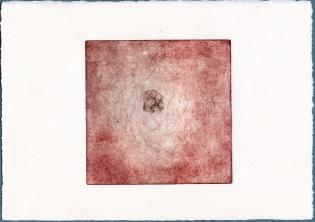 Plaque#3, fond, tirage03 - eau forte sur zinc, 12,5x12,5cm, 2015