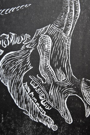 1515 Rhinocerus, gravure sur bois, 50x65cm, mars 2016
